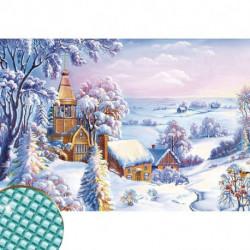 Алмазная вышивка с полным заполнением «Снежная долина», 22x32 см