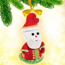 Новогодняя игрушка из массы для лепки «Дед Мороз»