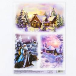 Декупажная карта «Зимнее волшебство», 29,7 x 21 см