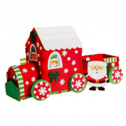 Набор для творчества — создай новогоднее украшение «Праздничный паровозик»