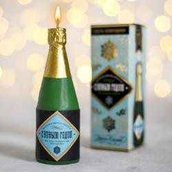 Свеча шампанское «Удачи в делах», 13 x 4,5 x 4,5 см