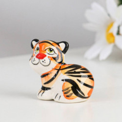 Сувенир 'Тигр Пупс', гжель, цвет