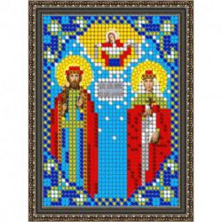 «Светлица» набор для вышивания бисером 8452ЛМ «Св. Петр и Феврония» бисер Чехия 7,5x10 см