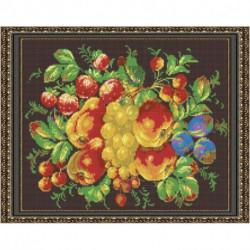 «Светлица» набор для вышивания бисером №541П «Жостовские фрукты» бисер Чехия 38x30 см
